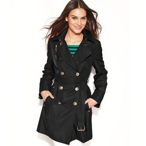 Michael Kors Double-Breasted Belted Trench Coat